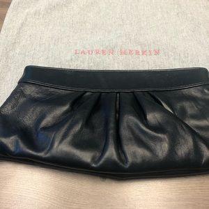 Lauren Merkin black clutch bag